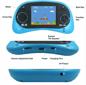 2.5 Inch 8 Bit Handheld Game Console - 260 Classic Games